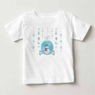 Snowman with Christmas Hanging Decorations Baby T-Shirt