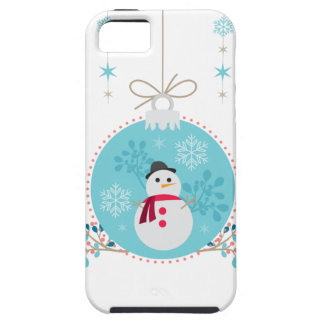 Snowman with Christmas Hanging Decorations iPhone 5 Covers
