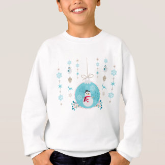 Snowman with Christmas Hanging Decorations Sweatshirt