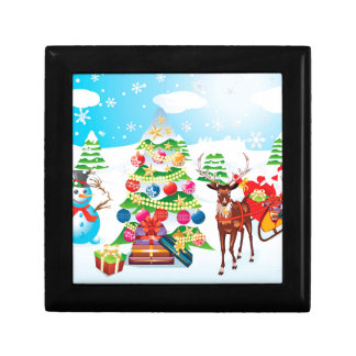 Snowman with Christmas Tree2 Gift Box