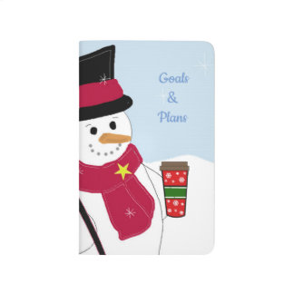 Snowman With Hot Beverage Journal