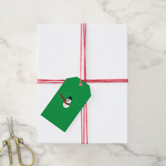 Snowman with Red Scarf Gift Tags