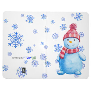 Snowman with Snowflakes Journal