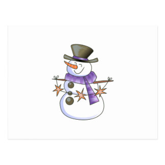 SNOWMAN WITH STAR GARLAND POSTCARDS