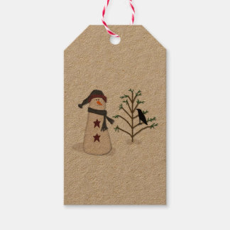 Snowman With Tree Gift Tag Pack Of Gift Tags