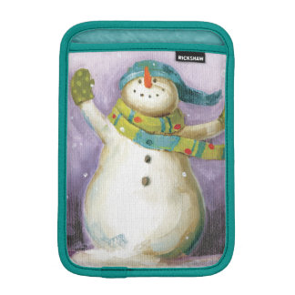 Snowman with Winter Mittens iPad Mini Sleeves