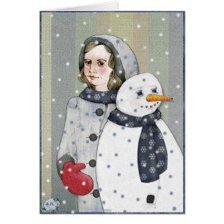 Snowman Woman Card