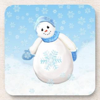 Snowman Wonderland Cork Coaster