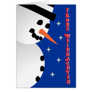 Snowman Xmas - german Greeting Card