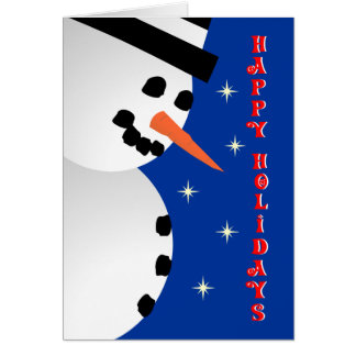 Snowman Xmas Greeting Card