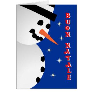 Snowman Xmas - italian Greeting Card