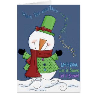 SnowmanCard Greeting Card