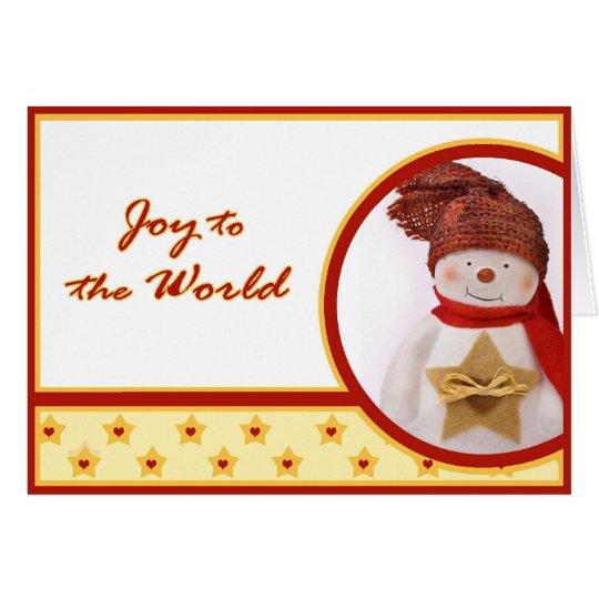Snowmann Greeting Card