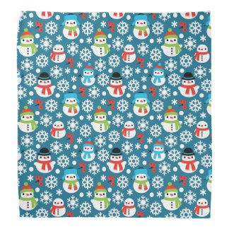 Snowmans & Snowflakes Seamless Pattern Bandana