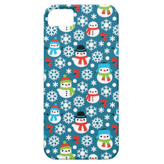 Snowmans & Snowflakes Seamless Pattern iPhone 5 Case