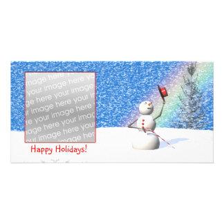 Snowman's Snowy Christmas Card