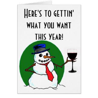 Snowman's Toast Greeting Card