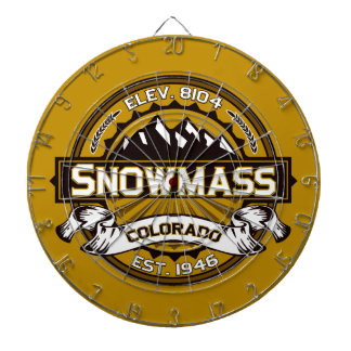 Snowmass Logo Tan Dartboard
