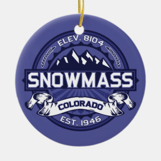 Snowmass Midnight Ceramic Ornament