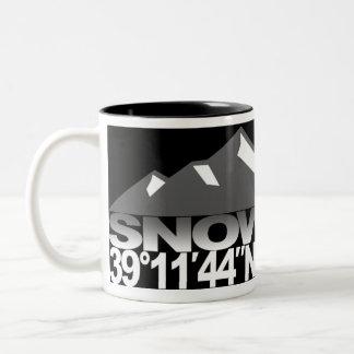Snowmass Mountain GPS Gray Mug