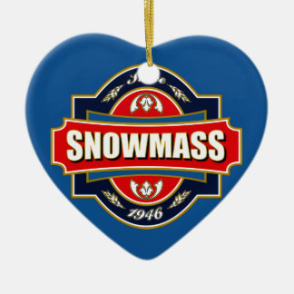 Snowmass Old Label Ceramic Ornament