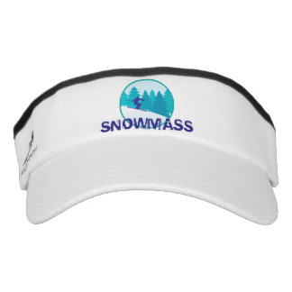 Snowmass Teal Ski Circle Visor