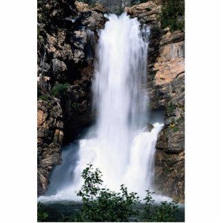 Snowmelt Falls, Glacier National Park, Montana, U. Photo Cut Out
