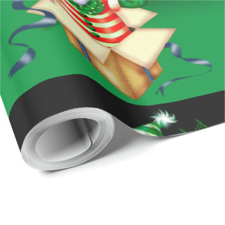 SNOWMEN ALONE CARTOON Glossy Wrapping Paper