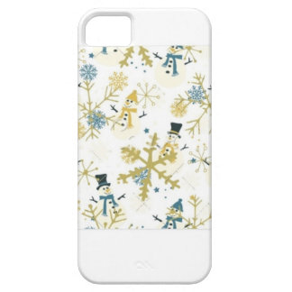 Snowmen and flakes iPhone 5 case