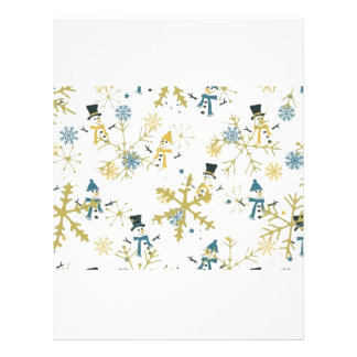 Snowmen and flakes letterhead