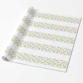 Snowmen and flakes wrapping paper