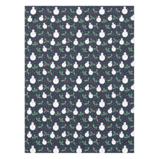 Snowmen and mistletoe pattern tablecloth