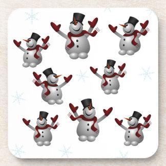 Snowmen and Snowflakes Beverage Coasters