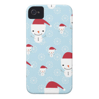 Snowmen and snowflakes Case-Mate iPhone 4 cases