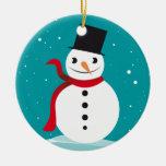 SNOWMEN AND SNOWFLAKES CHRISTMAS ORNAMENTS