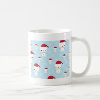 Snowmen and snowflakes coffee mug