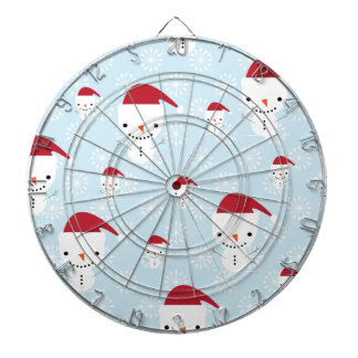 Snowmen and snowflakes dart boards