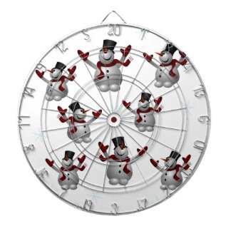 Snowmen and Snowflakes Dartboard