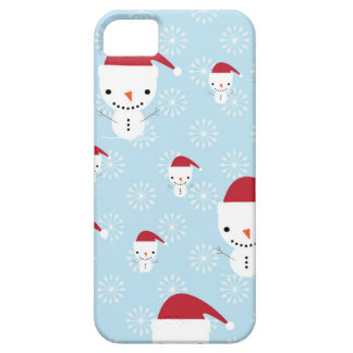 Snowmen and snowflakes iPhone 5 cover