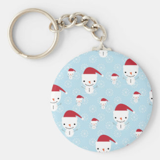 Snowmen and snowflakes keychain
