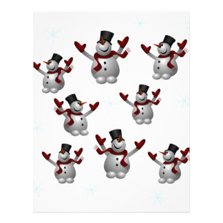 Snowmen and Snowflakes Personalized Letterhead