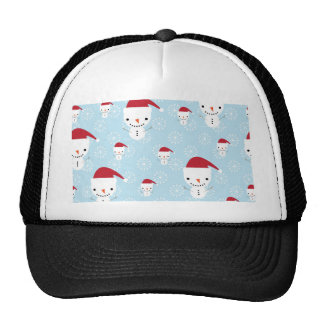 Snowmen and snowflakes trucker hat