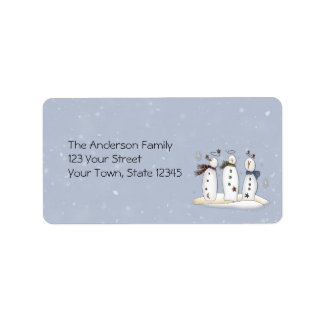 Snowmen Angels Label