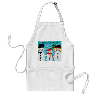Snowmen apron