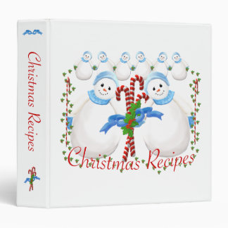 Snowmen Candy Canes Holiday Recipe Binder