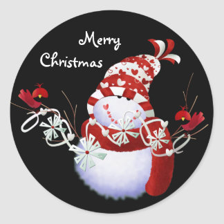 Snowmen Christmas Stickers