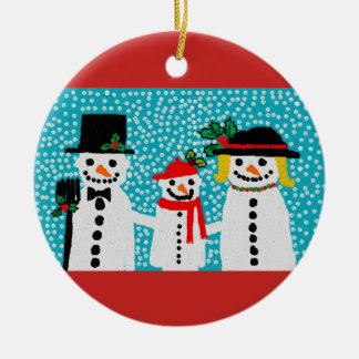 Snowmen christmas tree decoration