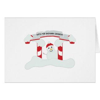 Snowmen Crossing Cards
