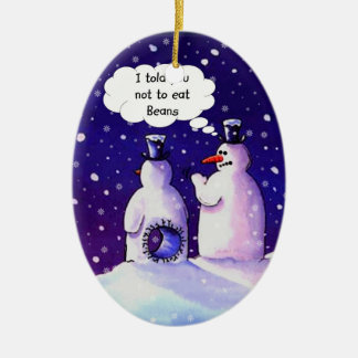 Snowmen Humor Ceramic Ornament