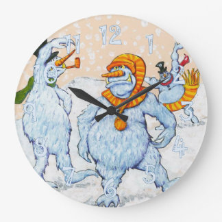 Snowmen Large Clock